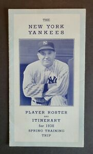 New York Yankees 1938 Spring Training Baseball Roster Guide - Gehrig & DiMaggio