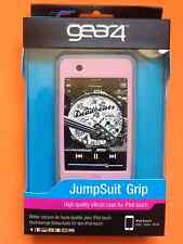 GEAR4 Jumpsuit Grip Pink & Grey Silicone Case Skin Cover for iPod Touch 2g & 3g