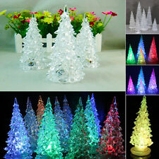 Cute Christmas Ornament Xmas Tree Color Changing LED Light Lamp Party Decoration