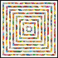 "VAMOOSE - 70"" - Quilt-Addicts Pre-cut Patchwork Quilt Kit Double"