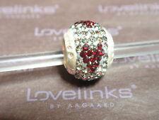 ** Genuine Lovelinks * GREY & RED HEART CRYSTAL BALL Charm RRP £45 **
