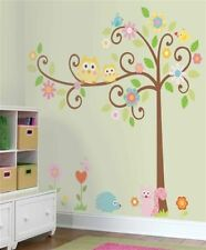 """HAPPI SCROLL TREE Giant 64"""" Wall Mural Stickers Owls Nursery Room Decor Decals"""