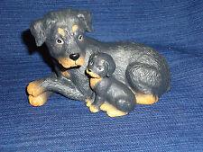Homco Canine Companions ceramic Rottweiler puppy dogs Figurine