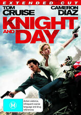 KNIGHT and DAY Tom Cruise / Cameron Diaz DVD R4 - New - Extended Cut
