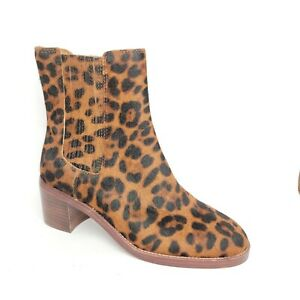 NEW Madewell The Autumn High Chelsea Boot in Leopard Calf Hair Women's 7.5 MSRP