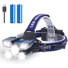 500000LM 5X T6 LED Headlamp Rechargeable Headlight 18650 Flashlight Head Torch-