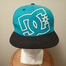 Dc Shoes Teal Black White Logo 210 Fitted Size 6 1/2 - 6 7/8 Baseball Hat Cap