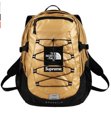 Supreme The North Face Metallic Borealis Backpack Gold SS18 2018