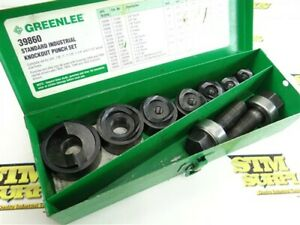 """GREENLEE STANDARD INDUSTRIAL KNOCKOUT PUNCH SET NEAR COMPLETE 3/4"""" TO 1-1/2"""""""