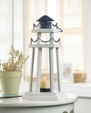 White Black Nautical Lighthouse Candle Lantern Light Wedding Centerpiece Table
