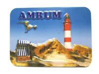 Amrum Relief 3D Optik unebener Magnet Germany Souvenir 9 cm