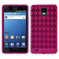 AMZER Luxe Argyle TPU Soft Gel Skin Case for Samsung Infuse 4G I997 - Hot Pink