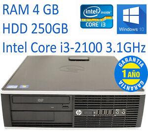 PC HP 8200 SFF Core i3-2100 RAM 4GB HDD 250GB W10