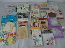Lot 21 Packages Card Scrapbook Supplies Tags Journals Paper Ribbon Labels New