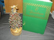 Christmas Tree Tannenbaum Rotating Music Box Rare!