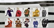GB 2012 BRITISH FASHION PRESENTATION PACK No 471 MINT STAMP SET SG 3309-18 #471