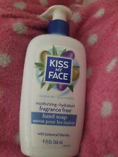 Kiss My Face Hand Soap Fragrance Free 9oz Pump Moisturizing Olive Oil Aloe New