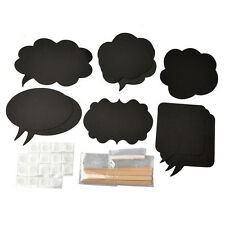 10 Chalkboard Cardboard Signs Speech Bubbles Photo Booth Props Wedding Party WB