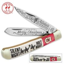 KISSING CRANE 2 Blade 2016 Christmas Trapper Knife KC5381 NEW