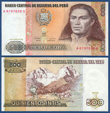 PERU 500 Intis 1987  UNC  P.134 b
