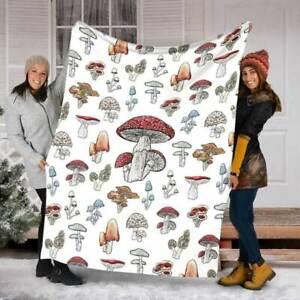 Love Mushroom Mushroom Fleece Blanket House Decor New House Gift