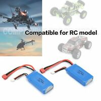 2PCS 1500mAh 7.4V 2S LiPo Battery T Plug for RC Car Airplane Helicopter
