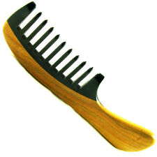 Mongolian Natural Genuine Horn Hair Comb wood STRONG