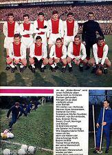 Ajax Amsterdam--Mannschaftsfoto--Fussball--Zeitungsausschnitt von 1967