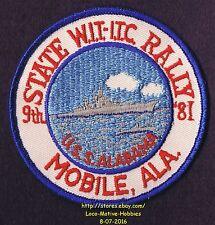 LMH Patch '81 WINNEBAGO TRAVELERS Club RV Motorhome WIT W.I.T.  Mobile USS RALLY