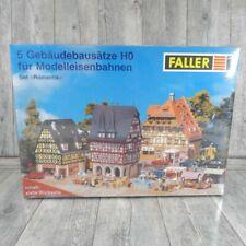 FALLER - H0 - 5er Set Romantik OVP  Hotel Markt Laden Brunnen Rathaus  #J28648