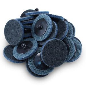 "100 Pack- 2"" Roloc Surface Conditioning Discs Fine - Blue Quick Change Prep Pads"