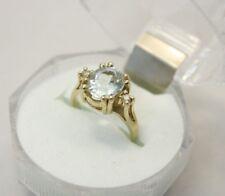 14k 1.5ct Goshenite and Diamond Ascent Engagement Ring 2.9g size 4