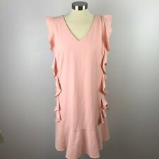 Nicole Miller Studio Womens 14 Pale Pink Ruffle Dress