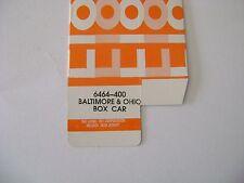 Lionel 6464-400 Baltimore & Ohio  Box Car Original HILLSIDE Box