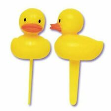 12 Yellow Rubber Ducky Plastic CupCake Picks Cake Party Baby Shower Cake Topper