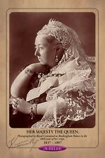 QUEEN VICTORIA 1897 Diamond Jubilee Commemorative Photograph Cabinet Card RP