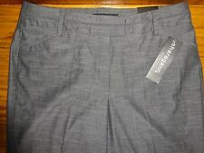 NEW WOMEN'S SHARAGANO GRAY DRESS PANTS SIZE 12 MSP $70.00 INSEAM 31