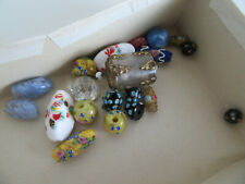"Job Lot Antique Glass Beads""African Venetian Trade Beads""Venetian &glass button"