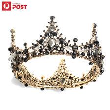Wedding Bridal Crystal Tiara Crown Full Round Rhinestone Hair Headband Pageant