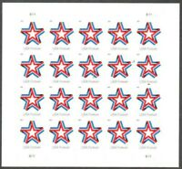 Star Ribbon Pane of 20 Forever Postage Stamps Scott 5361