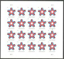 Star Ribbon Pane of 20 Forever Postage Stamps Scott 5361