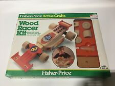 Fisher Price Arts & Crafts Wood Racer Kit 726 Vintage Model Toy 1983 New in Box
