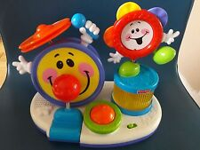 VINTAGE Fisher Price Little SUPERSTAR BOP N BEAT drum set per bambino/neonato