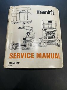 MANLIFT MZ46  BOOM LIFT OPERATION MAINTENANCE OVERHAUL PARTS MANUAL BOOK