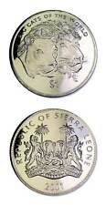Sierra Leone The Big Cats Lion and Lioness 2001 $1 Coin Prooflike KM-241.1