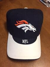 DENVER BRONCOS NFL FOOTBALL Cool Blue & White HAT/CAP Team Logo in Front - NEW