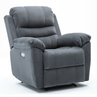 3 Motors Electric Power Recliner Chair Suede Padded Durable Frame Premium Sofa