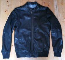 ZARA MAN - Lederjacke Jacke Herrenjacke Jacket - schwarz black Size/Gr.S/M=46/48