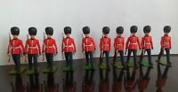Toy soldiers Britains marching queens guards Royal vintage x10 bundle Collection