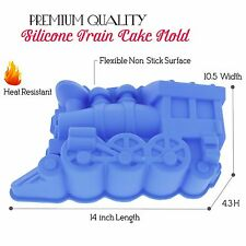 Elbee Premium FDA-Grade Silicone Mold Train Locomotive Cake Pan - BPA-Free.